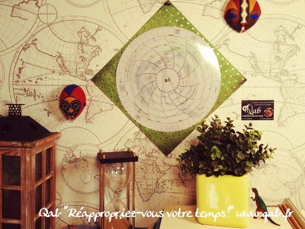 ✨☯️⏳Qab'Agenda⏳☯️✨ décor vert métallisé
