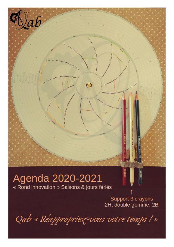 """Qab'Agenda 2020-2021 """"Saisons, Jours Fériés & Repères de date de août 2020 à juillet 2021"""""""