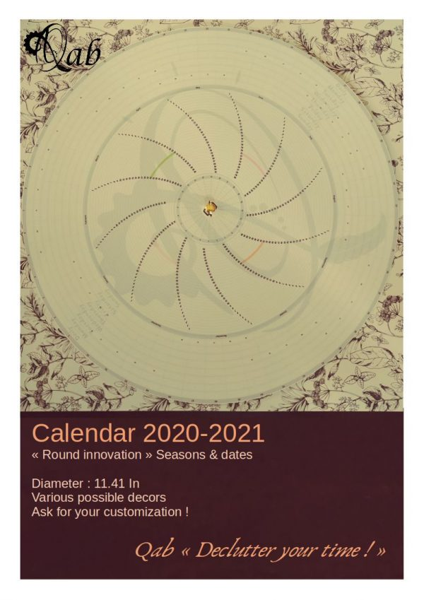 """Qab'Agenda 2020-2021 """"Seasons & dates from august 2020 to july 2021"""""""